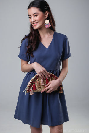 Valencia Tee Dress in Blue