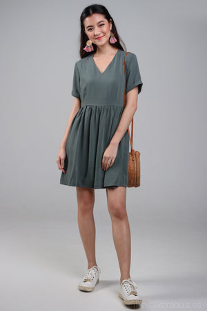 Valencia Tee Dress in Olive