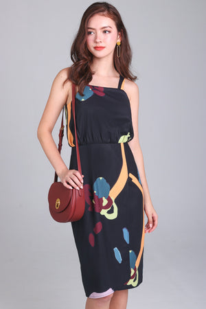 Child's Play Overlap Dress in Black
