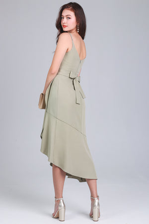 Walking On Sunshine Dress in Sage