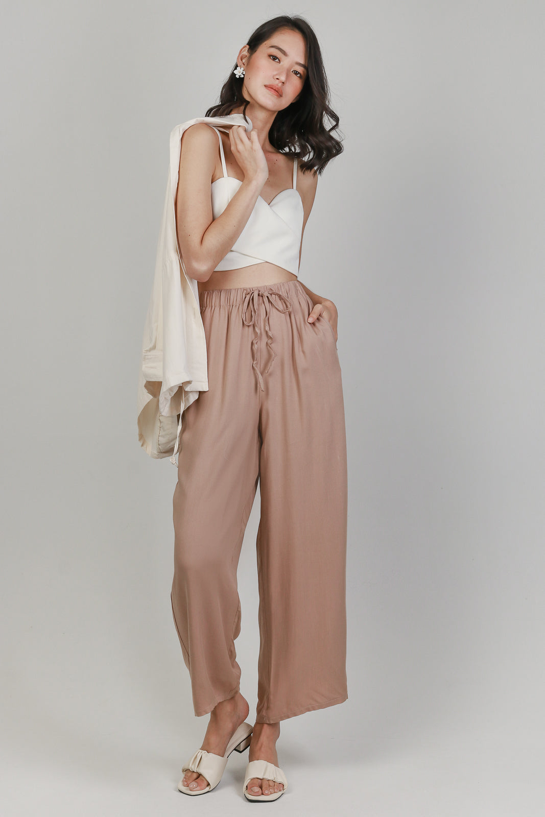 All Day Relaxed Culottes in Khaki
