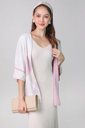 Misha Abstract Kimono Jacket in Pink (Reversible)