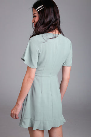 NEW* Althea Playsuit Dress in Sage Green