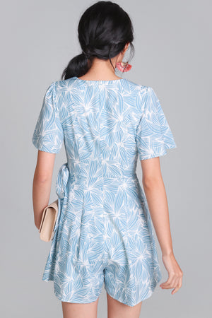 Artful Affair Romper in Sky