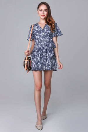 Artful Affair Romper in Navy