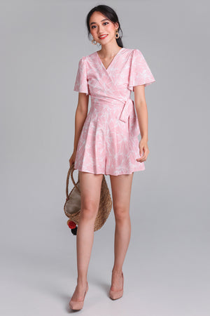 Artful Affair Romper in Pink