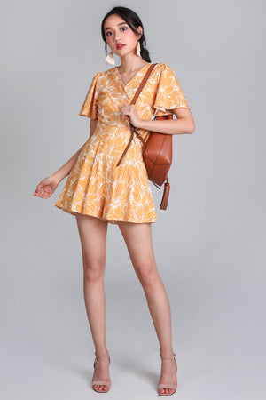 Artful Affair Romper in Yellow