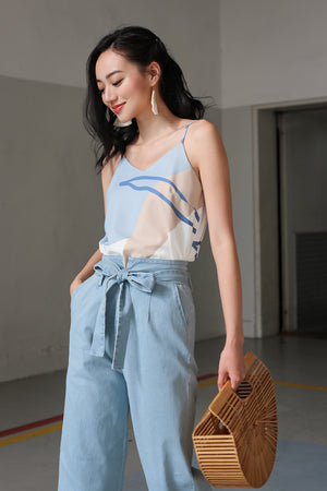 Beach Bound Strappy Camisole in Ocean Blue
