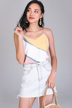 Beach Bound Strappy Camisole in Lemon Rose