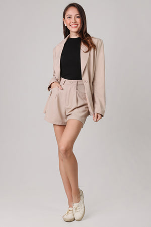 Backorder* Ellis Boyfriend Blazer in Khaki