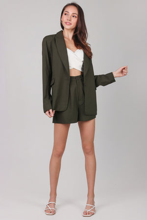 Backorder* Ellis Boyfriend Blazer in Olive