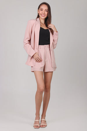 Backorder* Ellis Boyfriend Blazer in Nude Pink