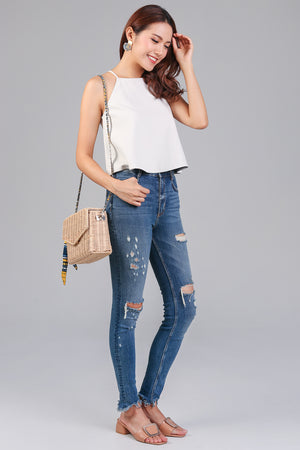 Basic Trapeze Top in Cream