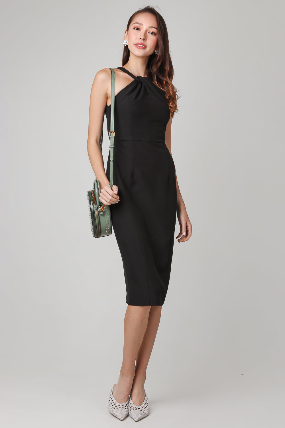 Top Of The World Halter Dress in Black