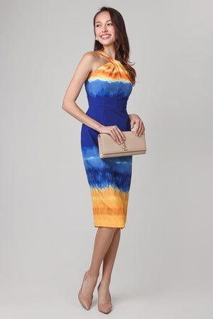 Top Of The World Halter Dress in Ombre