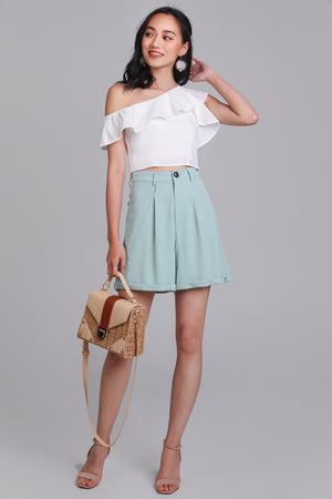 Tally Up Tailored Shorts in Mint