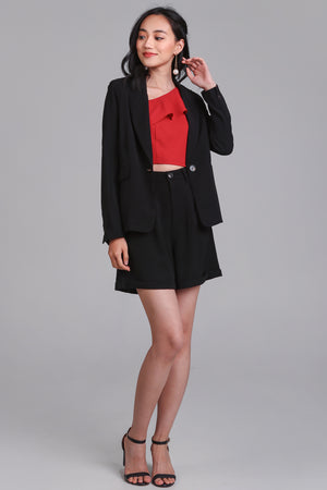 On Point Blazer Jacket in Black