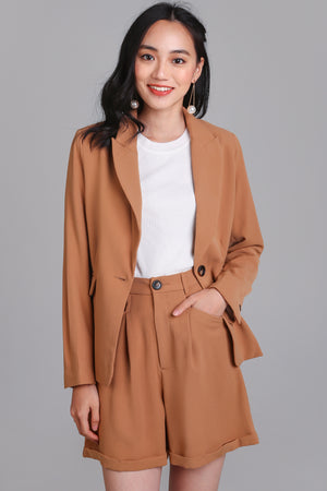 On Point Blazer Jacket in Camel