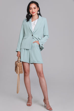 On Point Blazer Jacket in Mint