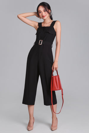 Doubly Blessed Pocket Jumpsuit in Black