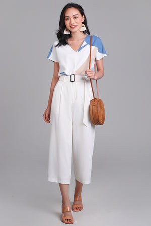 Callista Wide Leg Pants in White