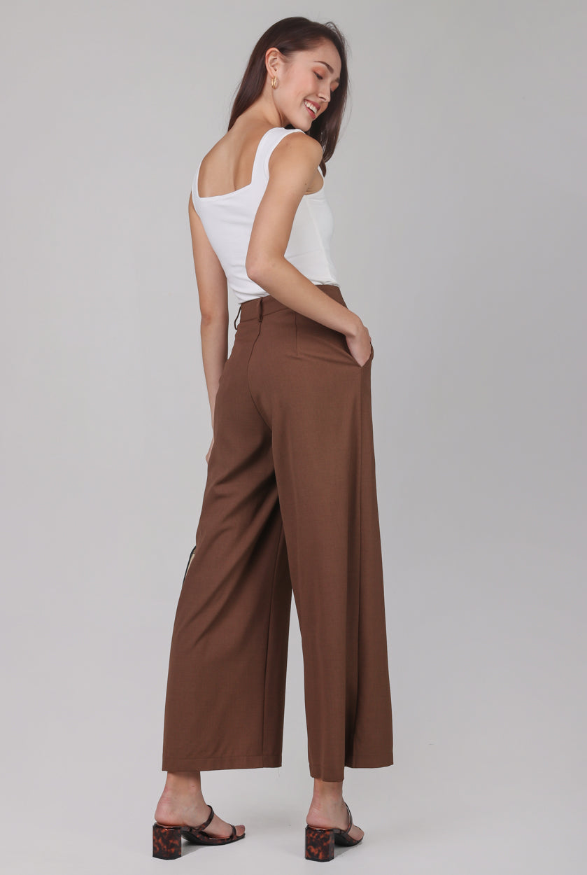 Manhattan Business Pants in Chocolate