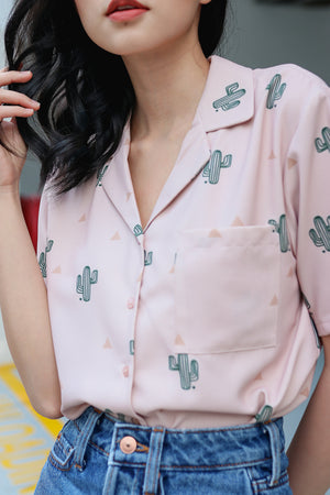Restocked* Cactus Factor Blouse in Pink