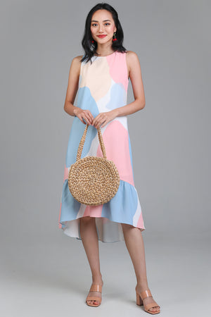 Color Chemistry Drophem Dress in Pink/Sky