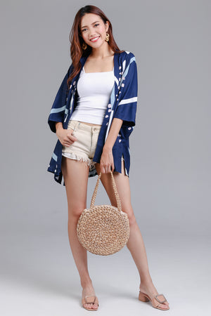 Backorder* Jubilee Graphic Kimono Jacket in Navy