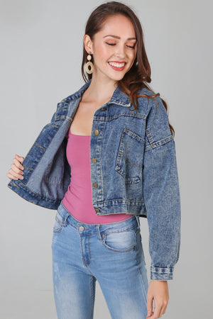 Alessia Denim Cropped Jacket