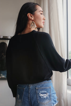 Backorder* Sweet Dreams Cropped Cardigan in Black