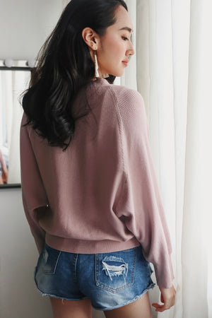 Sweet Dreams Cropped Cardigan in Dusty Pink