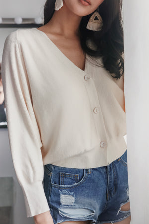 Backorder* Sweet Dreams Cropped Cardigan in Vanilla