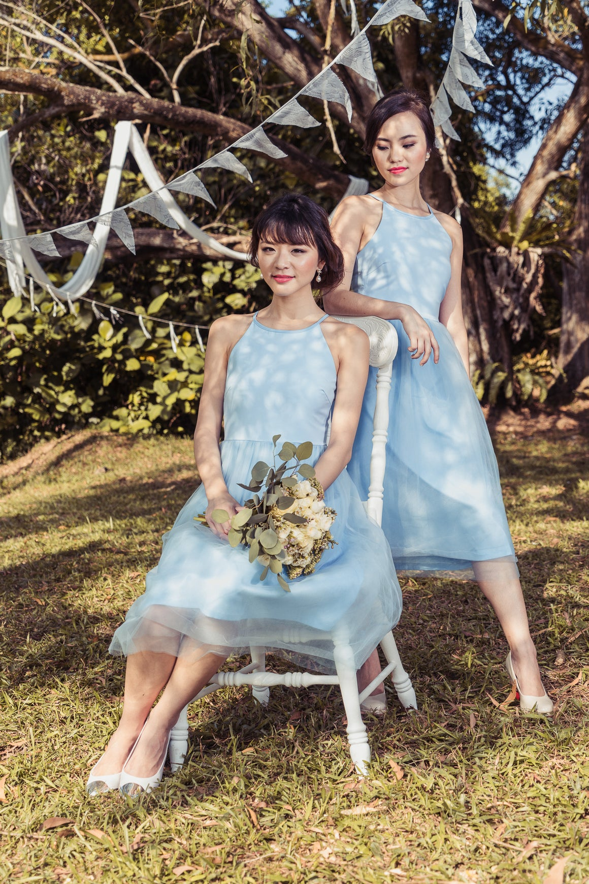 Restocked** Midsummer's Night Tulle Dress In Sky Blue