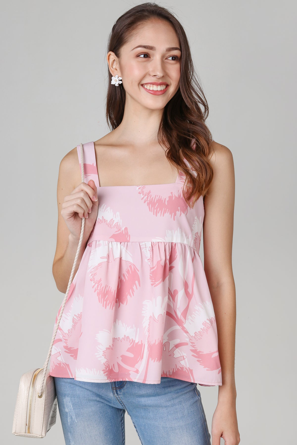 Dandelions Babydoll Top in Pink