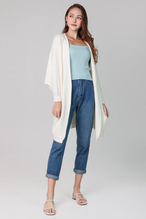 Layla Drape Knit Cardi in Cream