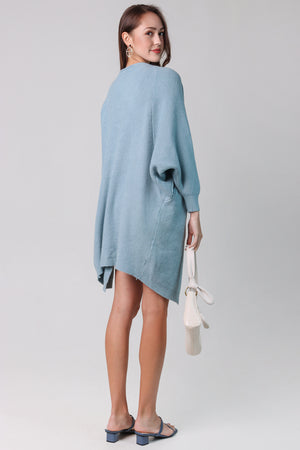 Backorder* Layla Drape Knit Cardi in Seafoam