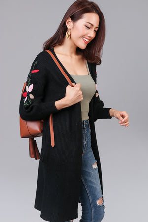Restocked* Adorning Glory Knit Cardigan in Black