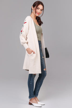 Restocked* Adorning Glory Knit Cardigan in Cream