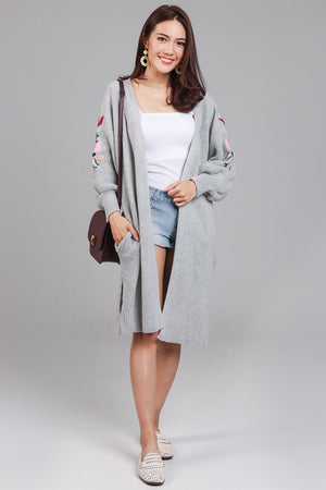 Restocked* Adorning Glory Knit Cardigan in Grey