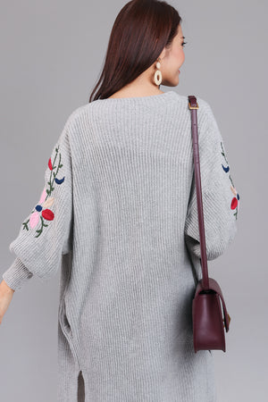Adorning Glory Knit Cardigan in Grey