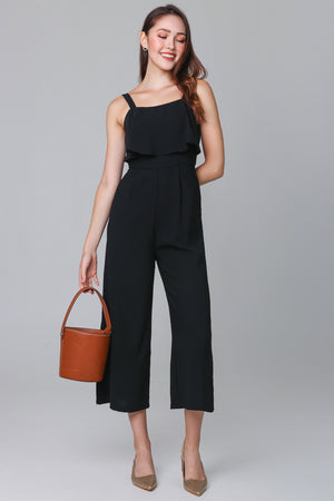 Evelyn Layer Jumpsuit in Black