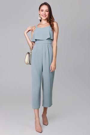 Evelyn Layer Jumpsuit in Jade