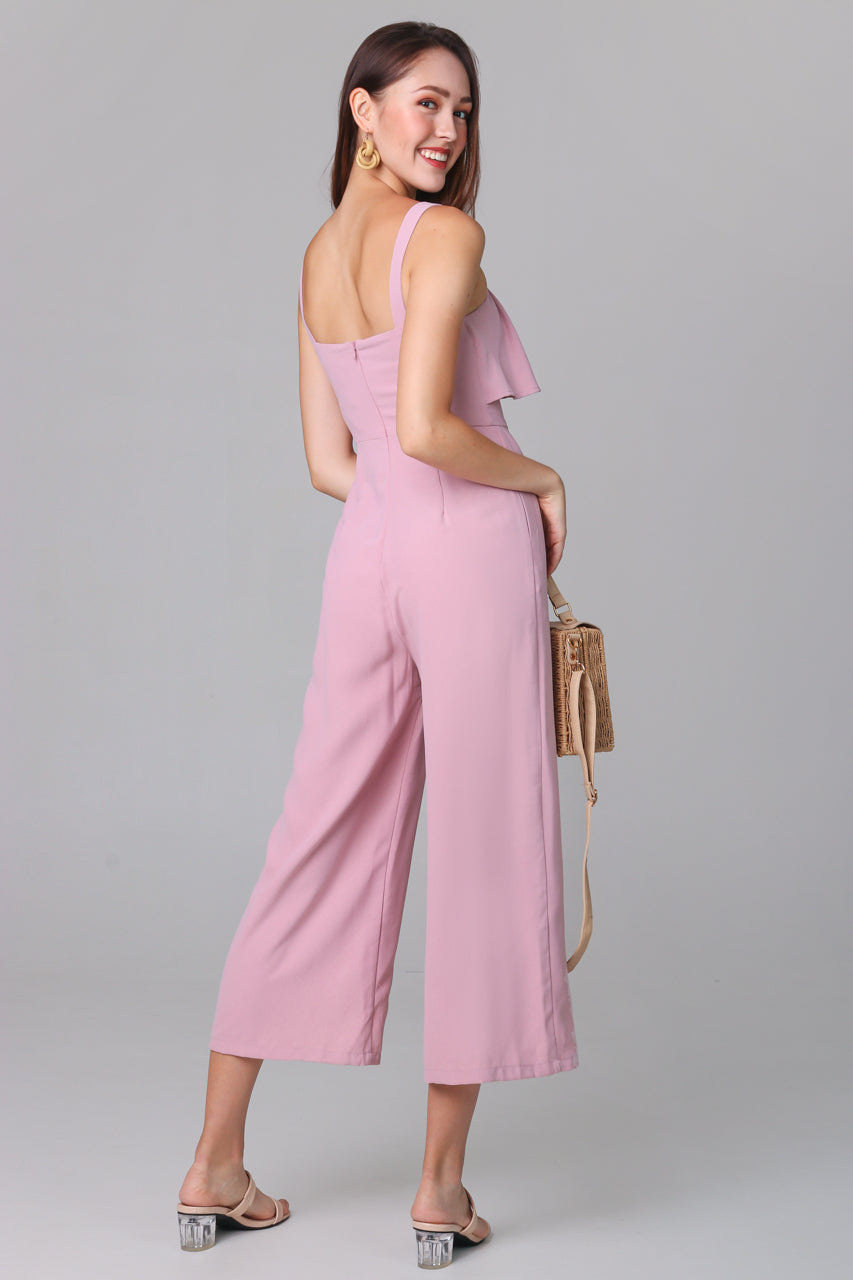 Evelyn Layer Jumpsuit in Pink