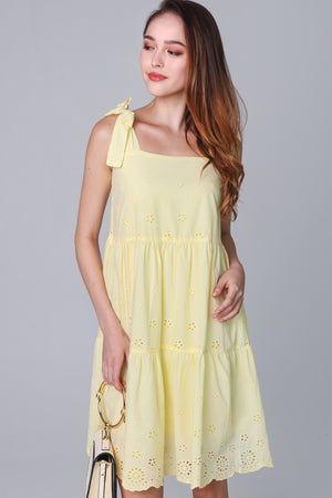Ibiza Eyelet Sundress in Daffodil