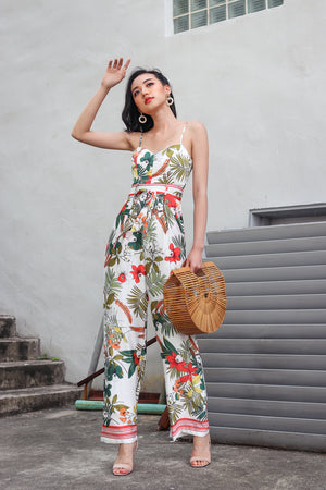 Wild Fancies Jumpsuit in Cream Floral