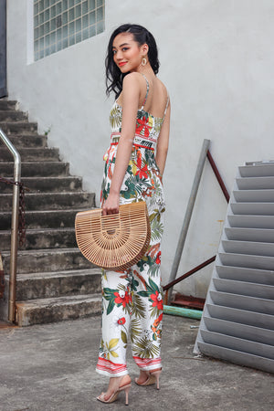Backorder* Wild Fancies Jumpsuit in Cream Floral