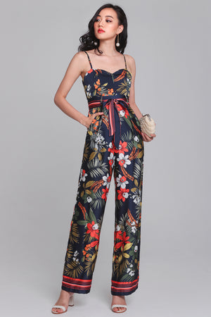 Restocked* Wild Fancies Jumpsuit in Navy
