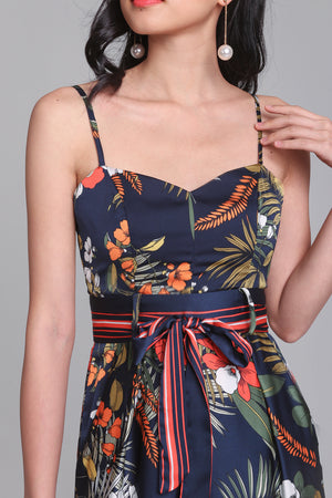 Wild Fancies Jumpsuit in Navy Floral