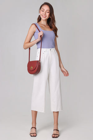 Freia Denim Culottes in White